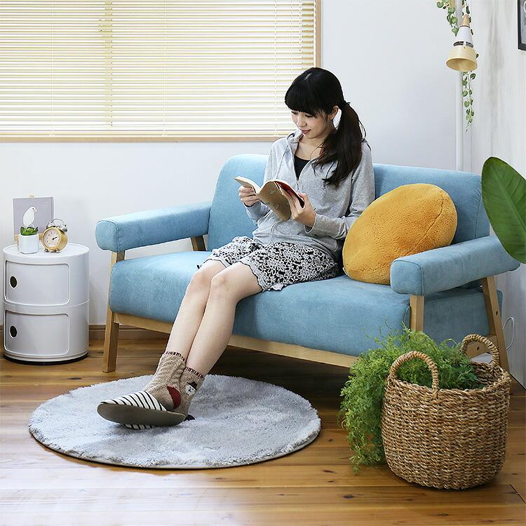 2人掛けソファ「COCON(ココン)」の画像。当店ソファ・座椅子ランキング2位獲得!