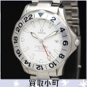 (OMEGA) Omega 2538.20 Seamaster GMT chronometer white diver's watch large automatic men's watch SS mechanical white-board 2538-20 25382000 SEAMASTER300 OH couchsurfer %