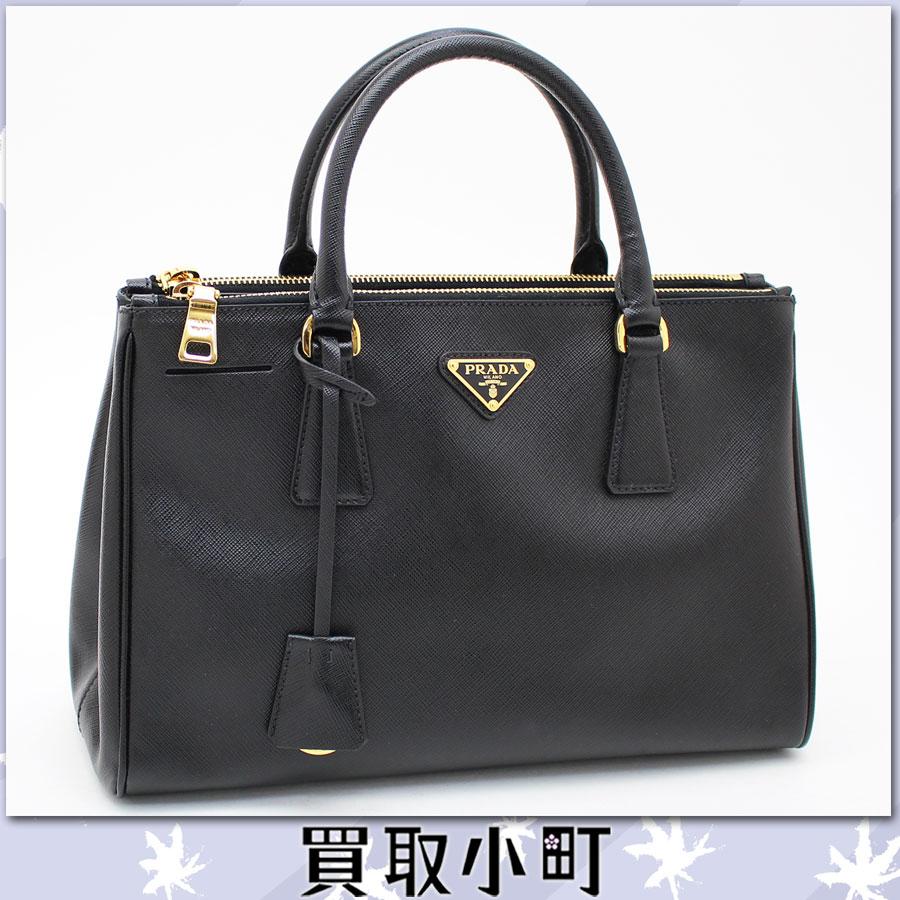 prada black leather handbags