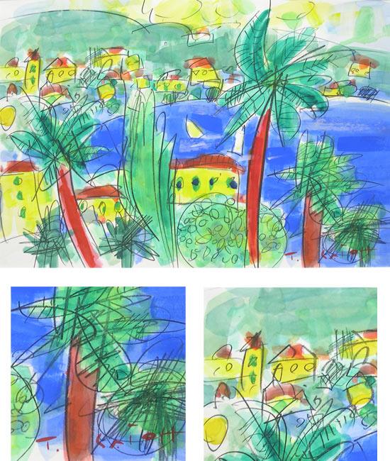 水彩各种树木绘画步骤