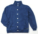 Hemp cotton cardigan sweat shirt indigo dyeing plain fabric
