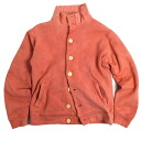 Hemp cotton cardigan sweat shirt dyeing madder-red plain fabric