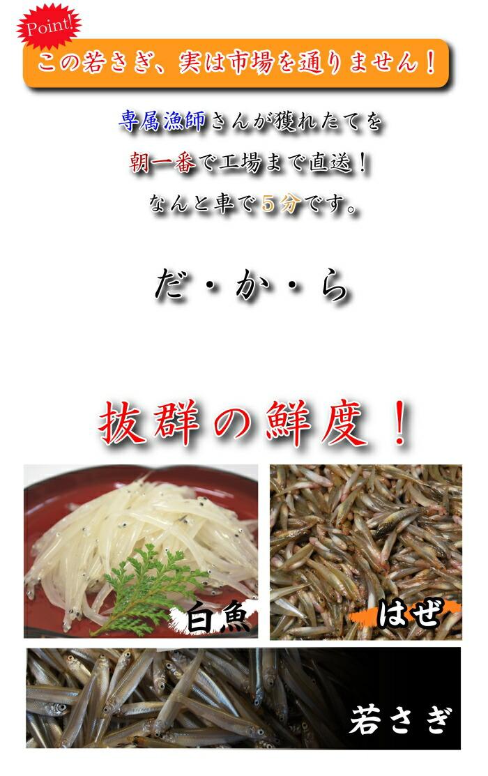 秋田県八郎潟産のワカサギ・白魚・はぜ(ごり)