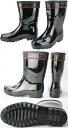 Power king B-022 short boots DRY / RIKIO rain boots black BLACK shortstop length rubber boots boots mountain climbing mountain climbing disaster prevention // fs2gm