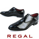 Regal shoes 426R BD ENB / REGAL men four circle business shoes plane toe business dress shoes BLACK black enamel // fs2gm