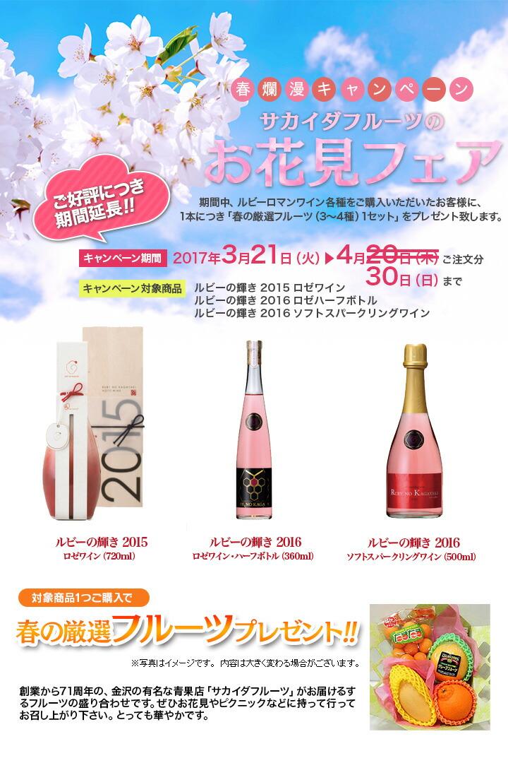 春爛漫キャンペーン ルビーロマンワイン