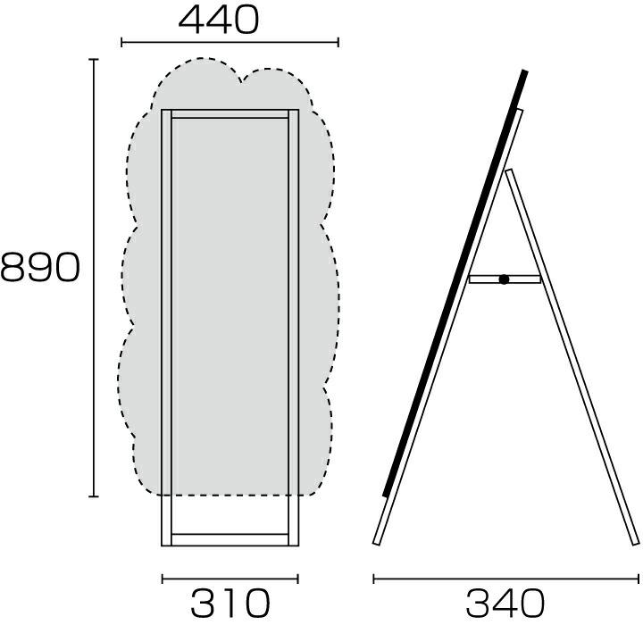 マーカーボード  図 ブラックボード