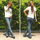 ★ ★ popular brand impact price is only 23 inches! SANG REAL サングリアル bootcut denim 7671-6551 レッドペッパーロリータ jeans