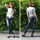 Lolita jeans (LOLITA JEANS) wash processing vintage beauty legs Kinney denim skinny pants 1245-1! Red pepper RED PEPPER