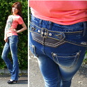 Lolita jeans ( LOLITA JEANS ) wash cutting vintage beauty legs タイトブーツカット denim jeans 1271! Red pepper RED PEPPER