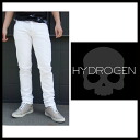 Hydrogen (HYDROGEN) 2013 spring summer SS new mens white stretch pants slim stretch cotton pants denim jeans 120200 white