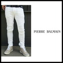 Pierre Balmain (PIERRE BALMAIN) 2013 spring summer SS new men by car denim slim stretch cotton pants denim jeans 6M2030 73630 white.