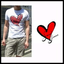 Sweet years (SWEET YEARS) spring 2013 summer SS new men's short sleeve crew neck T shirt studded heart motif SYU-793