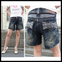 ラインストーンユニオン Jack HOTCHKISS ( stapler ) Womens shorts denim jeans shorts-length boyfriend jeans 5737-6704