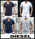 DIESEL (diesel) 2013 SS spring summer new mens design v-neck T shirt solid colors ワンポイントカットソー DIESEL-T-SIMONYX-RS