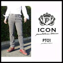 PT. icon PT ICON men's cotton check cargo pants PT-ICON OFFICER (Officer)-side pocket jeans denim pants Mod:IC VLOF (TU16)