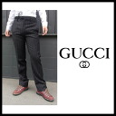 Gucci (GUCCI) men's slacks pants stripe jeans denim pants and skirts GUCCI-Z2118 113582 (black)
