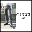Gucci (GUCCI) men rubber coating denim jeans cotton underwear Chino bottoms GUCCI-222126
