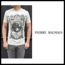 ピエールバルマン ( PIERRE BALMAIN ) ★ 2012 spring summer SS model T shirt sock neck short sleeve T shirt vintage crash damage dirt cutting short sleeve shirt 5M2703