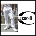 Just Cavalli (JUST CAVALLI) 2014 spring summer SS new ★ mens trousers button fly white denim pants and skirts patterned jeans JUST CAVALLI-S03LA0023 (white).