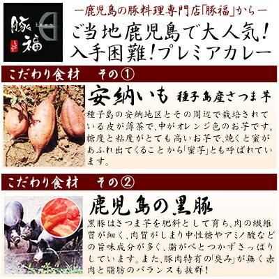 かの蜂【特産品】薩摩黒豚カレー200g(中口・辛口)