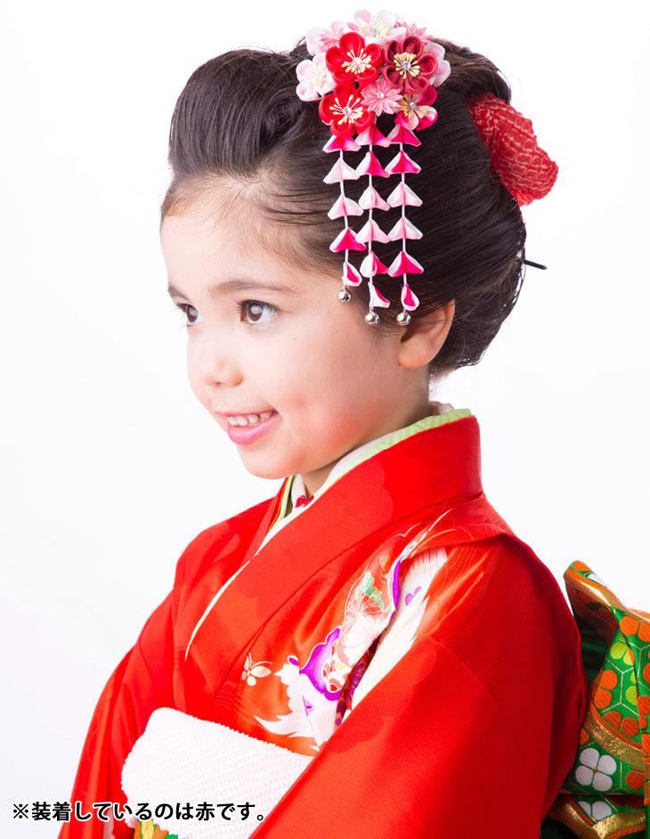 かんざし ピンク 桃色 菊 梅