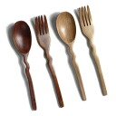 Spoon / fork <wave>New life / SALE// wooden tableware popular among / replacement by purchase