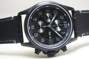 Pitch black! Made in Switzerland LUMINOXLAND field, automatic BLACK OUT blackout, Valjoux ETA7750 powered self-winding chronograph watch / 100 m waterproof and regular agency products