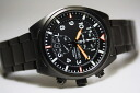Orange hands! SEIKO military chronograph 100 m water resistant watch