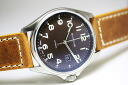 GLYCINECombat automatic watch made in Switzerland/Brown/Havana/military