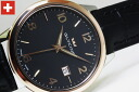 Design watch watch with three stitches of dates that are GLYCINEClassics Quartz Gents Shin pull made in Switzerland