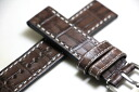 GLYCINE-only genuine leather band 22 mm and for wrist watch leather band / leather belt and genuine Grishin