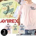 AVIREX avirex SPEED STAR pinup girl Pocket short sleeve T shirts crewneck print T shirt men's fashion men short sleeve T shirt military
