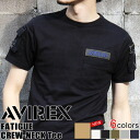 AVIREX avirex FATIGUE short sleeve T shirt mens men's tops military army of casual casual classic badge short-sleeved 10P12Sep14
