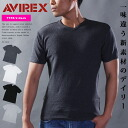 AVIREX red-throated loon Rex daily waffle V neck T-shirt short sleeves plain fabric underwear business men tops inner cut-and-sew underwear