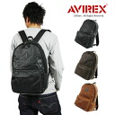 AVIREX avirex フェイクレザーデイ Pack rucksack backpack bag mens Womens military by car bag bag BAG vintage vintage bike