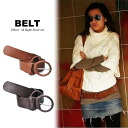 フェイクレザー ring belt Womens Westmark casual natural antique feminine celebrity selenge casual belt
