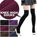 Beauty legs リブニーハイ socks stockings overknee socks tights socks sox ladies women under socks plain