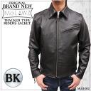 (Kawanotajimaya Original Brand) Men's buffalo trucker riders jacket MLRJ002