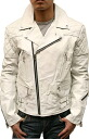 Men's Cow leather UK padding double riders Leather Jacket(3568)
