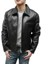 Genuine leather mens jacket leather courser Tracker type (black) leather jacket