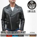 Men's double Riders leather Jacket (UK-type)(3566)