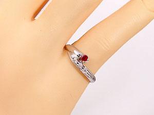 ルビー,天然ダイヤ ,指輪