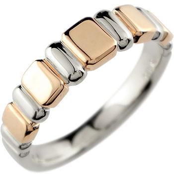 プラチナ リング 指輪 ピンクゴールドk18 ピンキーリング