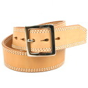 45 Mm thick thick saddle leather belts men's leather KC, s ケイシイズ: double-stitched garrison belt