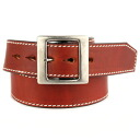 Thick leather belt men's ultra thick KC, s ケイシイズ: half moon bridle leather belt