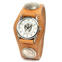Watch men leather leather KC,s Kay chinquapin : 3 leather breath watch conchos