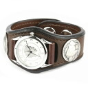 Watch mens leather leather KC, s ケイシイズ: resabreswatch 3 Concho deerskin