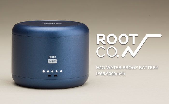 ROOT CO. H2O WATER PROOF BATTERY<br />IP65/6000mAh モバイルバッテリー