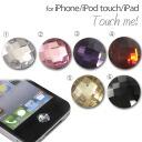 홈 버튼 씰 iphone Touch me! CZ다이어(큐빅 산화 지르코늄) 스티커(체스 컷) (대응)